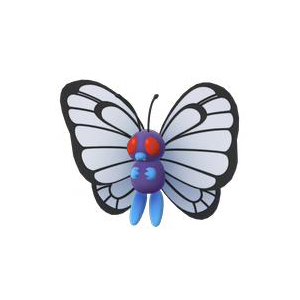 Butterfree generation 1 move learnset (Red, Blue, Yellow ...