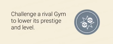 how to challenge prestige of a gym in pokemon go